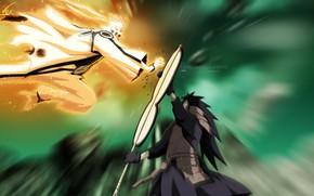 Picture battle, naruto, manga, naruto, shippuden, Madara Uchiha, Uzumaki