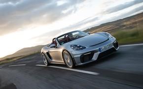Picture Road, Porsche, Speed, Spyder, Porsche 718, 2019, Porsche 718 ( 982 ) Spyder