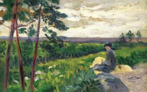 Picture picture, Maximilien Luce, Maximilien Luce, Landscape of the Ile-de-France with a Figure