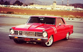 Picture Red, Cars, Nova, Old