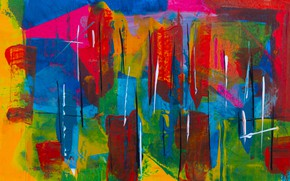 Picture paint, texture, colorful, strokes, color texture