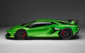 Picture Lamborghini, supercar, side view, 2018, Aventador, SVJ, Aventador SVJ