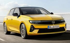 Picture speed, sedan, hybrid, exterior, 2021, Opel Astra Hybrid, опель астра