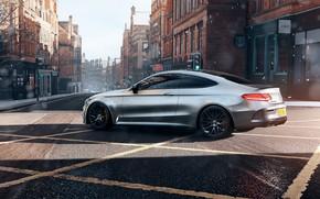 Picture Mercedes, AMG, Forza Horizon, Mercedes-AMG, Game Art, C63S, Mikhail Sharov, Forza Horizon 4, Transport & …