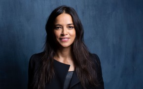 Picture look, pose, smile, Michelle Rodriguez, view, hair, Michelle Rodriguez, pose