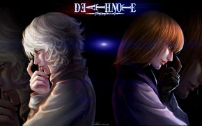 Picture anime, art, guys, Death note, DEATH NOTE