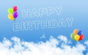 Picture the sky, balls, Birthday, Birthday