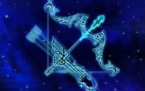 Picture space, crossbow, Sagittarius, zodiac sign