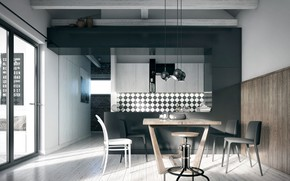 Picture design, style, interior, dining room, dining area