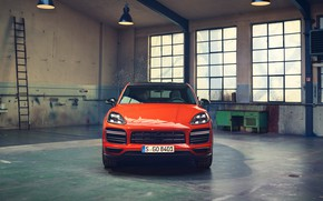 Picture Porsche, front view, Coupe, Turbo, Cayenne, 2019