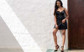 Picture girl, legs, eyes, smile, beautiful, figure, model, lips, face, hair, pose, indian, heels, makeup, Akshatha