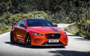 Picture orange, Jaguar, 2018, XE SV, Project 8