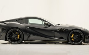 Picture Ferrari, supercar, side view, Mansory, Superfast, 812, 2019, Stallone Black