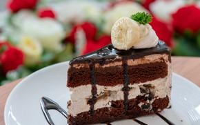 Picture chocolate, cake, cream, dessert, chocolate