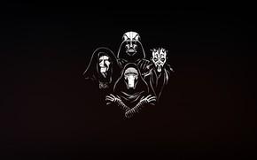 Picture Minimalism, Figure, Star Wars, Background, Darth Maul, Darth Vader, Art, Sith, Darth Vader, Illustration, Sith, …