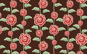 Picture flowers, roses, texture, brown background