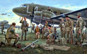 Picture USA, Douglas, Airborne, Marines, WWII, C-47, 101st Airborne Division