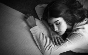 Picture girl, dream, sleep, girl, Heru Sungkono