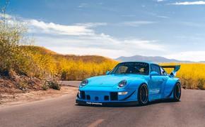 Picture Blue, Sport, Widebody, RWB, Vehicle, Porsche 911 993 RWB