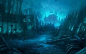 Picture Atlantis, atlantis, andreas rocha, mythical island-state