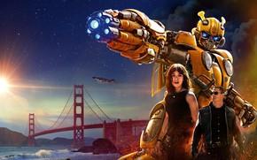 Wallpaper Girl, USA, Action, Car, Golden Gate Bridge, Clouds, Sky, Stars, Robot, Bridge, Alien, Night, Francisco, ...