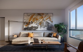 Picture sofa, interior, living room, living room, Tennessee