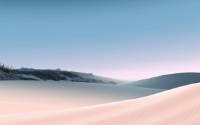Picture sand, the sky, grass, the dunes, desert, Surface Laptop 3