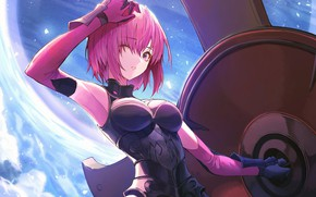 Picture look, girl, shield, pink hair, Fate / Grand Order, The destiny of a great campaign