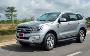 Picture Ford, Everest, on the road, 2015, gray-silver