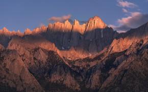 Picture california, mountain, sunrise, Mt Whitney