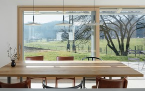 Picture interior, terrace, dining room, by Skupaj Arhitekti, House for Simple Stay