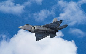 Picture unobtrusive, UNITED STATES AIR FORCE, multi-purpose fighter of the fifth generation, Lockheed/Boeing F-22 Raptor