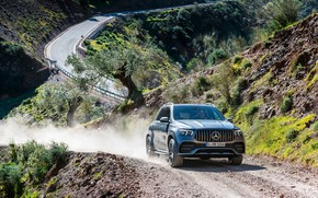 Picture road, machine, asphalt, lights, Mercedes-Benz, the roads, crossover, Mercedes-AMG, GLE 53, 4Matic+