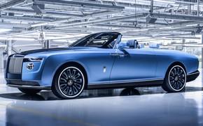 Picture Rolls-Royce, V12, 2021, Boat Tail, Phantom Drophead Coupe, эксклюзивный автомобиль, Rolls-Royce Boat Tail, $28 Million, …