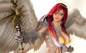 Picture girl, angel, warrior
