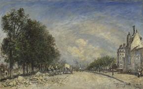 Picture picture, the urban landscape, Ian Bartold Jongkind, Johan Barthold Jongkind, Boulevard Port-Royal. Paris