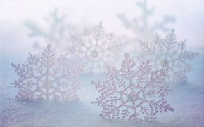 Picture winter, snow, snowflakes, texture, Christmas, New year, the snow, bokeh, Christmas decorations