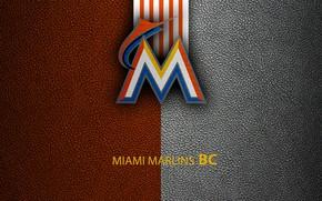 Picture wallpaper, sport, logo, baseball, Miami Marlins
