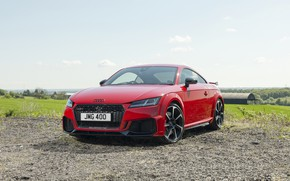 Picture Audi, Red, Coupe, RS, TT
