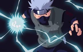 Picture lightning, mask, male, Naruto, Kakashi Hatake