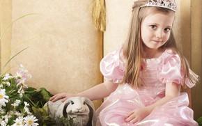 Picture look, rabbit, dress, girl, Princess
