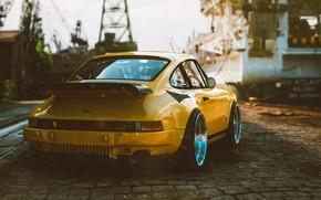 Picture Auto, Yellow, 911, Porsche, Retro, Machine, Porsche 911, Porsche 911 Turbo, Transport & Vehicles, by …
