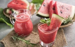 Picture watermelon, Cocktail, slice