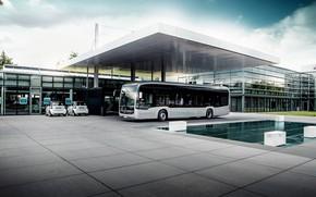 Picture transport, construction, bus, Mercedes Benz, ELECTRIFY eCitaro