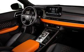 Picture interior, SUV, Mitsubishi Outlander, car interior, 2022, салон автомашины