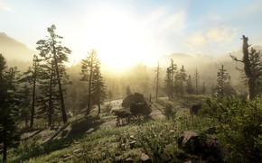 Picture landscape, the game, Red Dead Redemption II