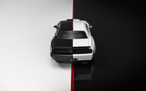 Picture Auto, Machine, Dodge, Challenger, Art, Dodge Challenger, Hellcat, Rendering, Concept Art, Challenger SRT, Transport & …