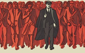 Picture future, working, USSR, Lenin, communism, people, engineers, the proletariat, socialism