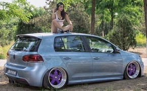 Picture auto, look, Girls, Volkswagen, Asian, beautiful girl, posing on the car