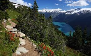 Picture landscape, mountains, nature, lake, beauty, panorama, path